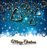 2015 nieuwjaar en Gelukkige Kerstmisachtergrond Stock Fotografie
