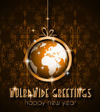 2015 nieuwjaar en Gelukkige Kerstmisachtergrond Royalty-vrije Stock Afbeeldingen