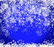 Nieuwjaar en Kerstmis blauwe achtergrond Royalty-vrije Stock Foto