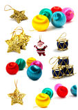 Nieuwjaar en Kerstmis die voor uw kunst-ontwerp wordt geplaatst Stock Fotografie