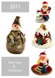 Nieuwjaar en Kerstmis die voor uw kunst-ontwerp wordt geplaatst Royalty-vrije Stock Fotografie