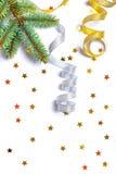 Nieuwjaar en Kerstmisachtergrond Royalty-vrije Stock Afbeeldingen