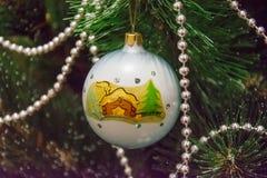 Nieuwjaar en Kerstmisdecor stock foto