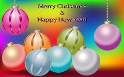 Nieuwjaar en Kerstmisgroet Royalty-vrije Stock Foto's