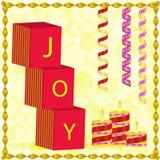 Nieuwjaar en Kerstmisgroet Stock Afbeelding