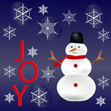 Nieuwjaar en Kerstmisgroet Stock Foto