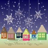 Nieuwjaar en Kerstmisgroet Royalty-vrije Stock Afbeelding