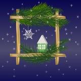 Nieuwjaar en Kerstmisgroet Royalty-vrije Stock Afbeeldingen