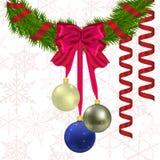 Nieuwjaar en Kerstmisgroet Stock Afbeeldingen