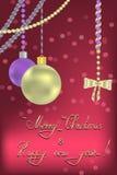 Nieuwjaar en Kerstmisgroet Royalty-vrije Stock Fotografie