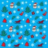 Nieuwjaar en Kerstmispatroon Stock Foto