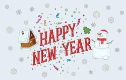 Nieuwjaar en Kerstmisprentbriefkaar 2017 Royalty-vrije Stock Foto