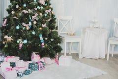 Nieuwjaar en Kerstmispunten Royalty-vrije Stock Foto's