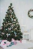 Nieuwjaar en Kerstmispunten Royalty-vrije Stock Foto