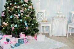 Nieuwjaar en Kerstmispunten Royalty-vrije Stock Afbeeldingen