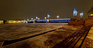 Nieuwjaar en Kerstmisverlichtingsdecoratie van de stad Rusland Royalty-vrije Stock Fotografie