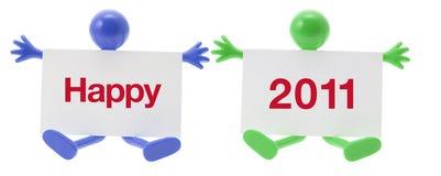 Nieuwjaar en RubberCijfer Stock Afbeelding