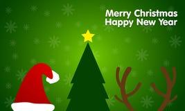 2015 nieuwjaar en Vrolijke Kerstmis Stock Fotografie