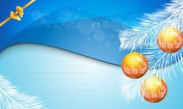 Nieuwjaar 2014 en Vrolijke Kerstmisprentbriefkaar Royalty-vrije Stock Foto's