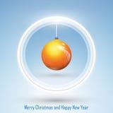 Nieuwjaar 2014 en Vrolijke Kerstmisprentbriefkaar Royalty-vrije Stock Afbeeldingen