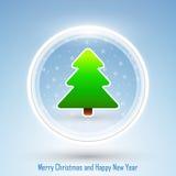 Nieuwjaar 2014 en Vrolijke Kerstmisprentbriefkaar Royalty-vrije Stock Fotografie