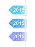 Nieuwjaar 2015 etiketten Stock Fotografie