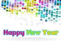 Nieuwjaar - funky grafisch ontwerp Stock Afbeeldingen