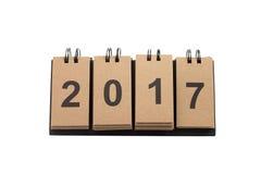 Nieuwjaar 2017 Geïsoleerd op Witte Achtergrond Stock Afbeeldingen