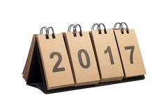 Nieuwjaar 2017 Geïsoleerd op Witte Achtergrond Royalty-vrije Stock Foto