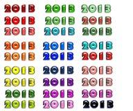 Nieuwjaar gekleurde 2013 Stock Afbeeldingen