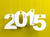 Nieuwjaar Gele 2015 Stock Fotografie