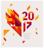 Nieuwjaar 2017 Geometrische abstracte achtergrond Stock Illustratie