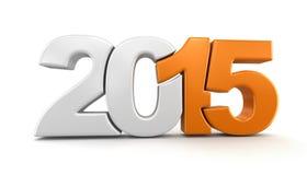 Nieuwjaar 2015 (het knippen inbegrepen weg) Stock Foto's