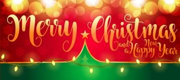 2019 Nieuwjaar/Kerstmis 3d malplaatje stock illustratie