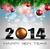 2014 nieuwjaar Kleurrijke Achtergrond Stock Afbeeldingen