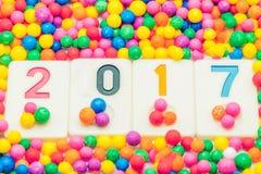 Nieuwjaar 2017 kleurrijke achtergrond als achtergrond Stock Fotografie