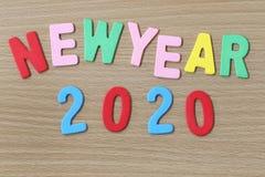 Nieuwjaar kleurrijke tekst Stock Afbeelding