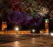 Nieuwjaar in Londen Stock Afbeelding
