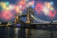 Nieuwjaar in Londen Stock Foto's