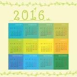 Nieuwjaar maandelijkse kalender Stock Foto
