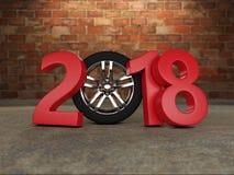 Nieuwjaar 2018 met Wiel Stock Foto's