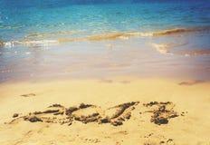 Nieuwjaar op het strand Stock Fotografie