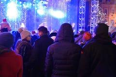 Nieuwjaar openluchtviering Stock Afbeeldingen