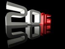 Nieuwjaar 2016 Perspectief Weerspiegelde Techno Stock Afbeeldingen