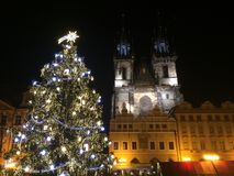 Nieuwjaar in Praag stock afbeeldingen