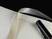 Nieuwjaar resolutie-Afgedekte Pen Royalty-vrije Stock Afbeeldingen
