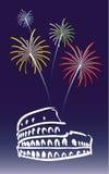 Nieuwjaar in Rome stock illustratie