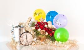 Nieuwjaar` s Decoratie - Gelukkig Nieuwjaar! Royalty-vrije Stock Afbeeldingen