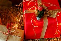 Nieuwjaar ` s en Kerstmis Stock Foto