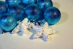 Nieuwjaar ` s en Kerstmisdecoratie Stock Foto
